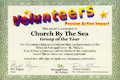 The Volunteer Group of the Year Award, presented to The CBTS Inc. at the PCSP Volunteer Appreciation Social, April 18 2012